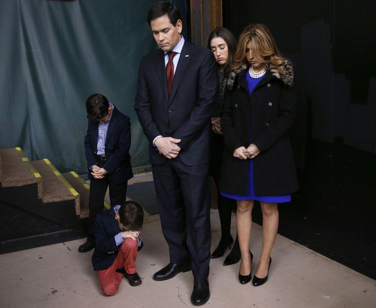 Marco Rubio en zijn gezin. Beeld ap