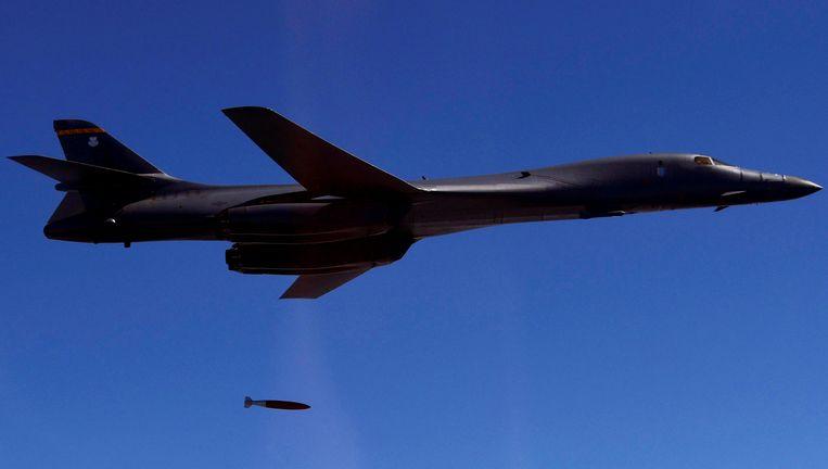 Een B-1B van de Amerikaanse luchtmacht.