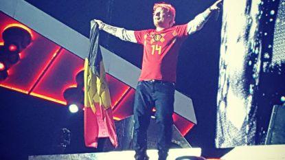 """Ed Sheeran duikt op in WK-truitje van Dries Mertens: """"Ik denk dat de Belgen gaan winnen!"""""""
