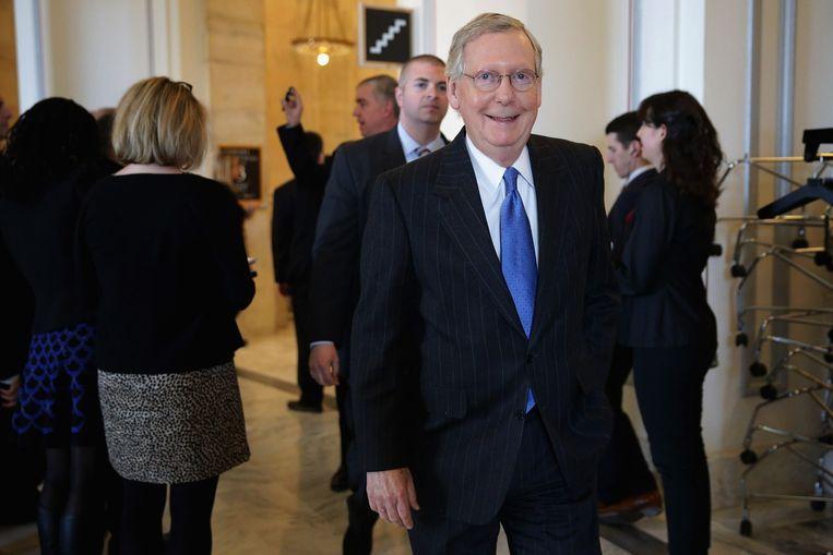 Mitch McConnell, leider van de Republikeinse meerderheid in de Senaat Beeld afp
