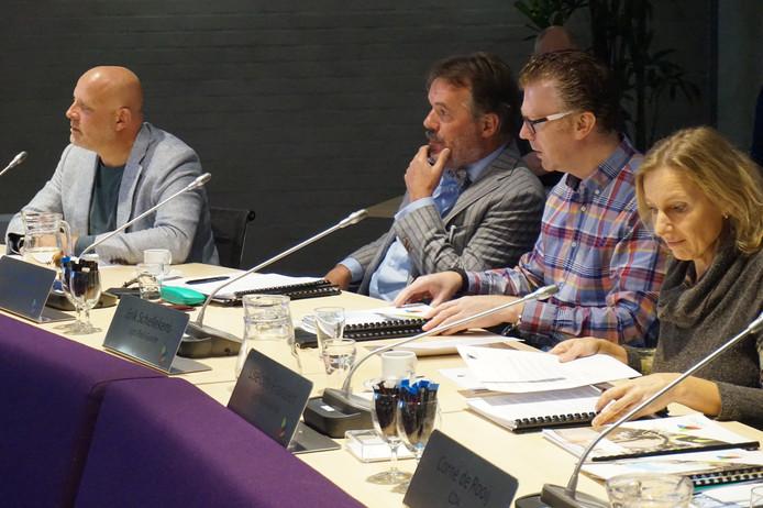De fractie van Lijst Riel Goirle tijdens de begrotingsbehandeling.