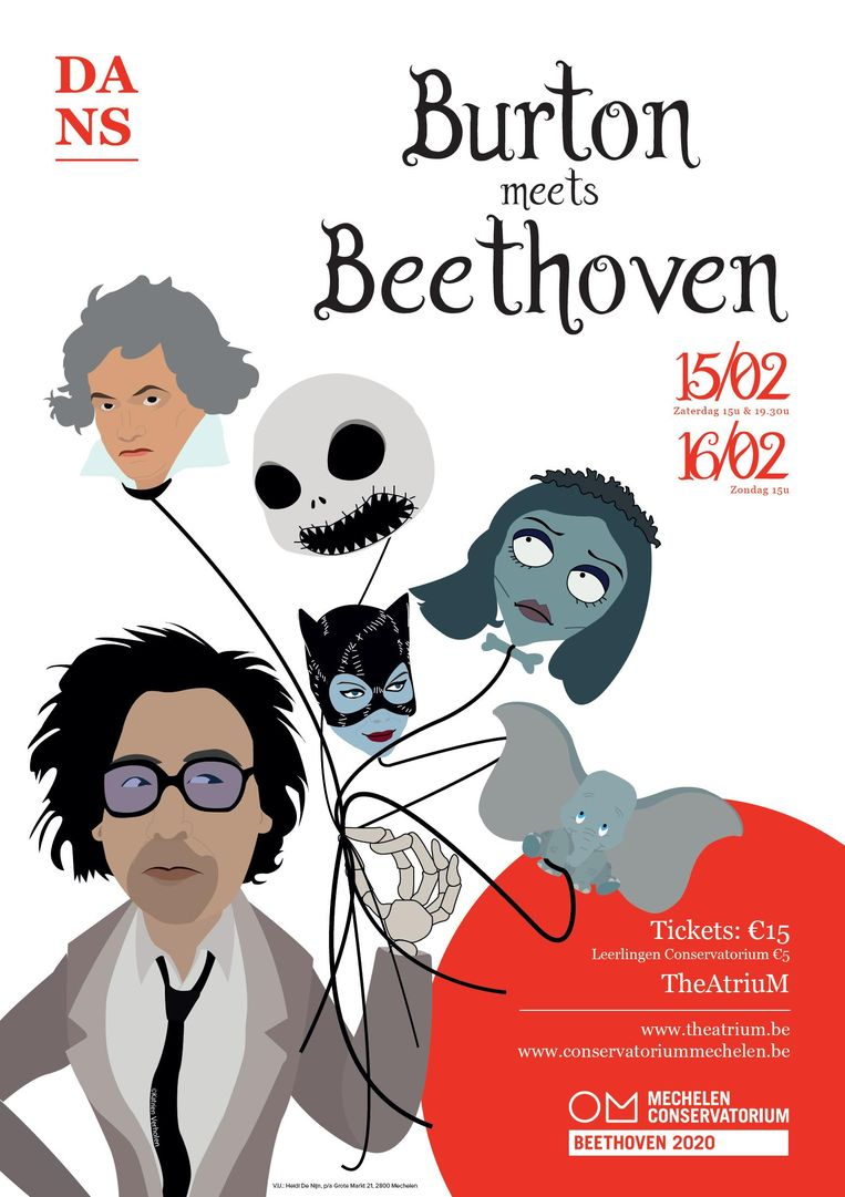Affiche 'Burton meets Beethoven'.