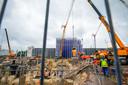 Nieuwbouw van het logistieke complex bij ASML in Veldhoven.