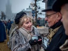 Dickens Druten in de sneeuw met arme sloebers en rijke stinkers