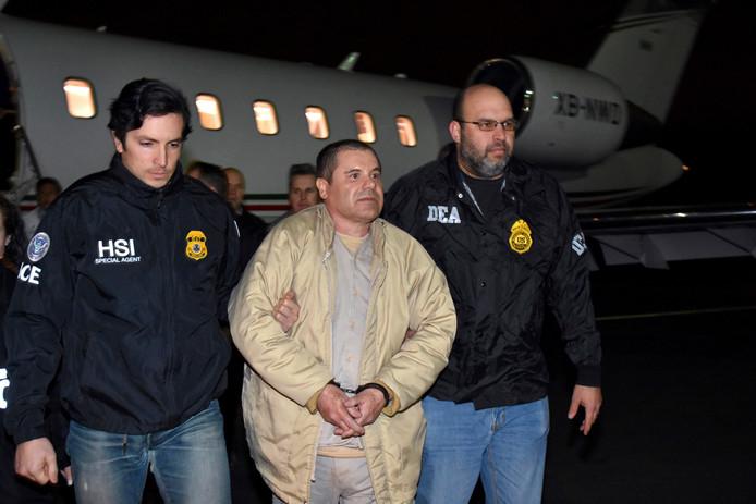 Joaquin 'El Chapo' Guzman, arriveerde in de Verenigde Staten op 19 januari 2017.