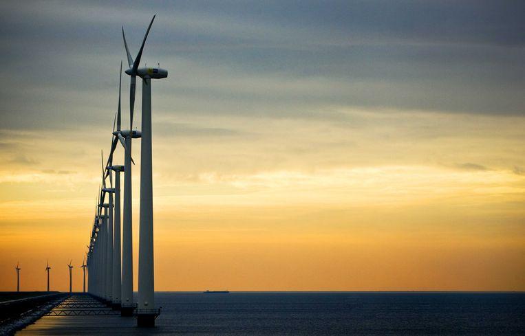 Windmolens bij Urk. Beeld anp