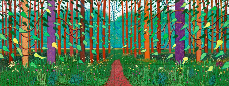 David Hockney, The Arrival of Spring in Woldgate. Beeld Jonathan Wilkinson
