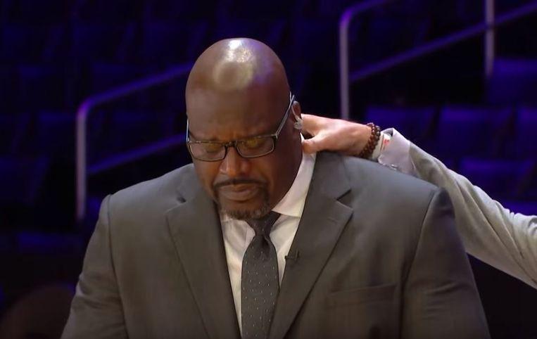 Shaquille O'Neal hield het niet droog toen hij vertelde over de betreurde Kobe Bryant.