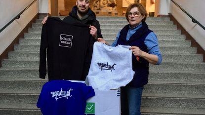 Hele doos vol Negenduust-spullen voor de daklozen. Thomas Beyls roept andere ondernemers op hetzelfde te doen