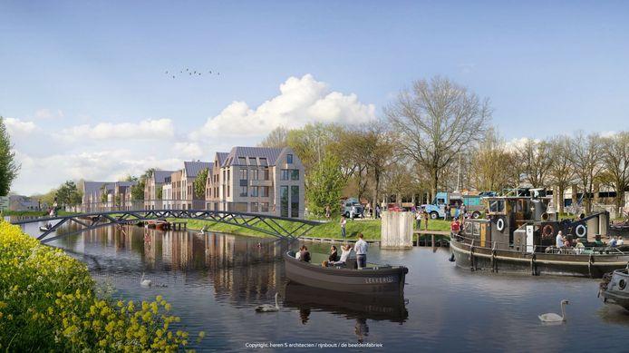 Impressie van 39 zelfbouwherenhuizen en -appartementen op Sluiseiland in Vianen.