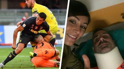 """Ronaldo zwaar aangepakt door partner van doelman die bewusteloos en met gebroken neus achterbleef: """"Deze kampioen kan ik niet bewonderen"""""""