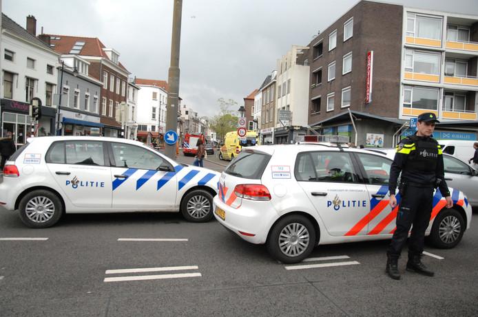 Politie-inzet aan de Hommelseweg in Arnhem.