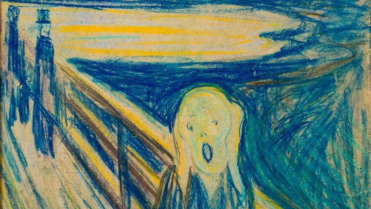 Edward Munch, De schreeuw, 1893. In het bezit van het Munchmuseum in Oslo Beeld Munch