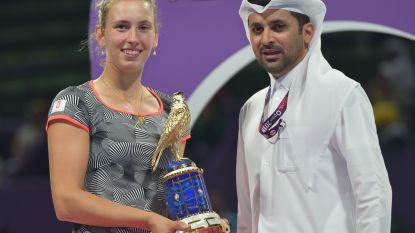 Elise Mertens klimt naar 16de plaats op WTA-ranking na toernooizege in Doha