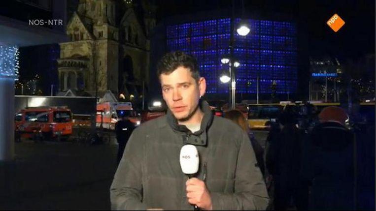 Duitsland-correspondent Jeroen Wollaars maandagavond tijdens Nieuwsuur. Beeld NOS-NTR