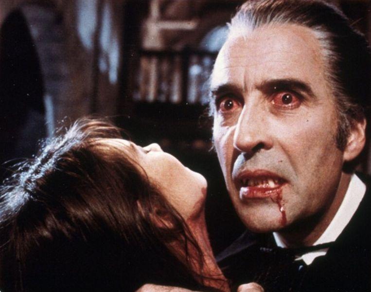 Christopher Lee als Dracula.