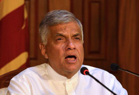 De Sri Lankaanse premier Ranil Wickremesinghe