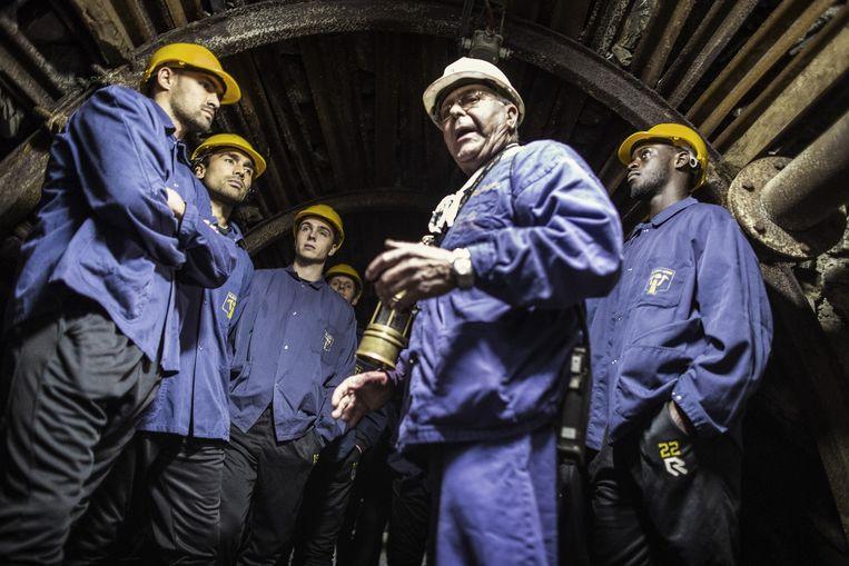 Roda JC bezoekt de mijn in het Belgische Blegny Beeld Jiri Buller