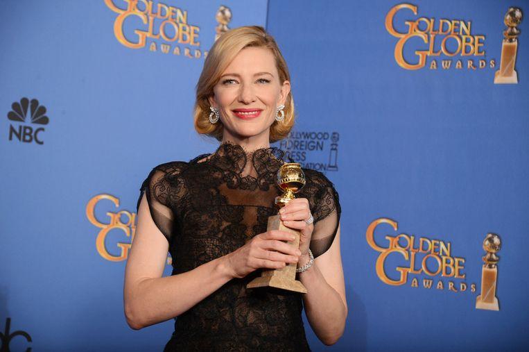 Cate Blanchett ging er met de Globe voor beste vrouwelijke hoofdrol in een drama vandoor. Beeld ap