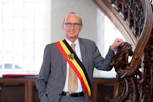 Burgemeester Frank Boogaerts.