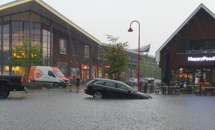 Een deel van het centrum van Barneveld kwam blank te staan.