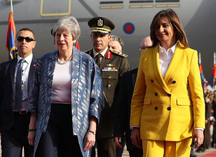 De Britse premier Theresa May arriveerde vandaag voor de eerste Arabisch-Europese top in Sharm El Sheikh in Egypte. Leiders komen bijeen voor de tweedaagse top.