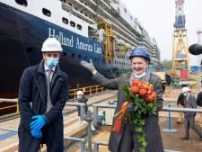 Cruisevrouw Mai Elmar peettante van de nieuwe Rotterdam van Holland America Line