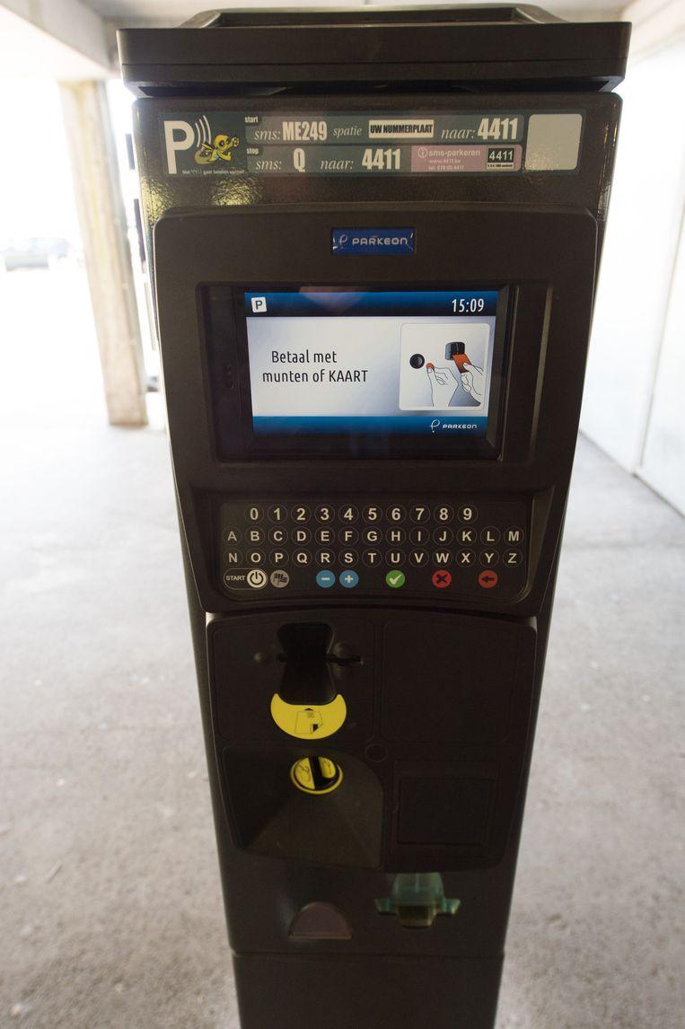 Deze parkeerautomaat wordt momenteel getest.