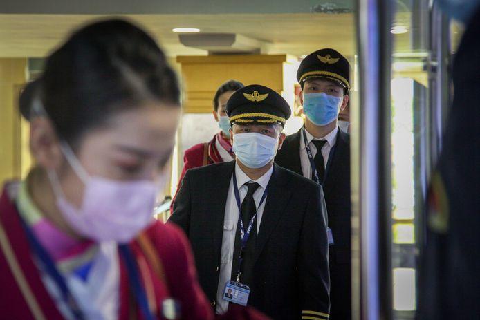 De bemanning van een vlucht van Southern Airlines.