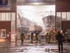 Brandje bij watersportbedrijf Mariteam Shipyard in Sint-Annaland