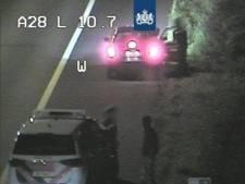 Politie haalt wandelaar van de A28 bij Soesterberg