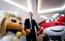 Premier Mark Rutte bij Alpha, grootste speelgoed en intellectual property bedrijf van China die in 2018 met klein kantoor in NL start. De premier is op handelsmissie in China. . Foto Robin van Lonkhuijsen