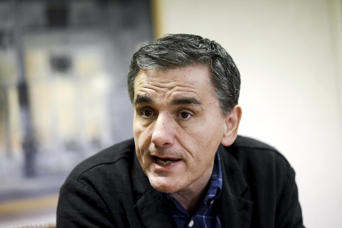 De Griekse minister van Financiën Euclid Tsakalotos.