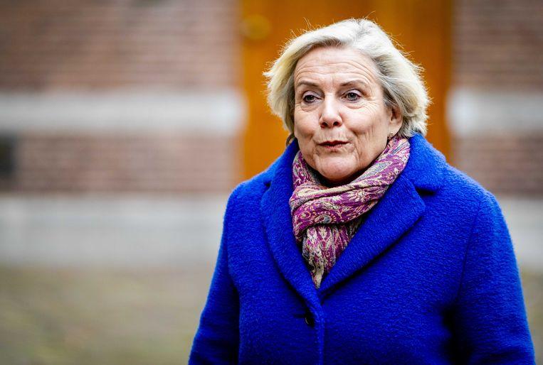 Minister Bijleveld  van Defensie op het Binnenhof.  Beeld null