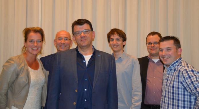 Marrik van Rozendaal, vooraan op de foto, wordt de lijsttrekker van D66 Meierijstad.