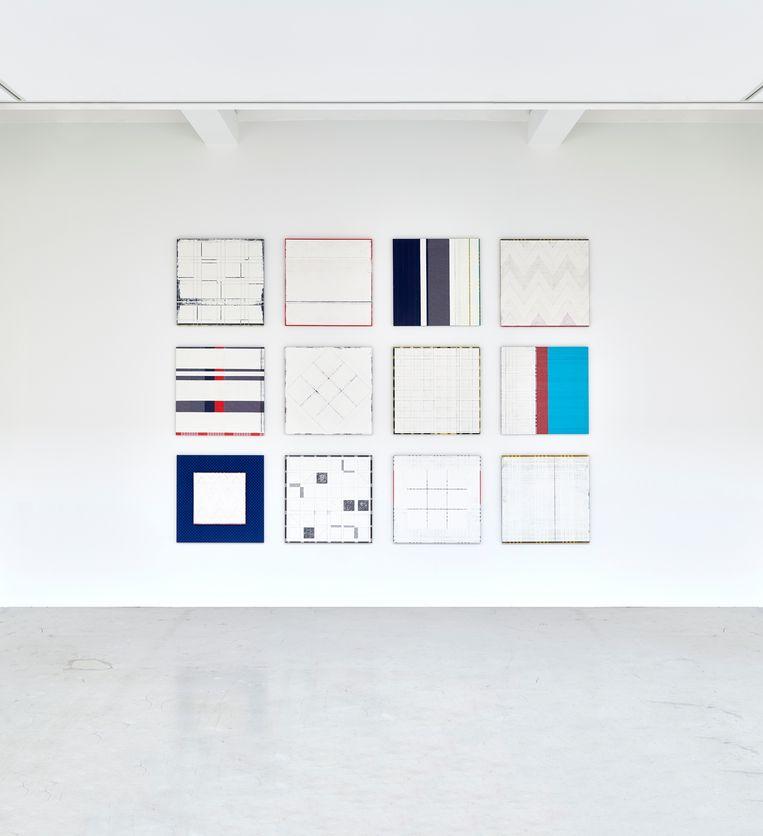 Remy Jungerman, Pimba (2015-2019, twaalfluik, katoen, textiel, kaolin, verf, hout). Beeld Remy Jungerman, Galerie Ron M