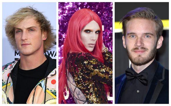 Logan Paul, Jeffree Star en PewDiePie.