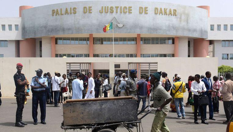 Rechtszaal waar Habré het proces tegen Habré plaatsvindt Beeld anp