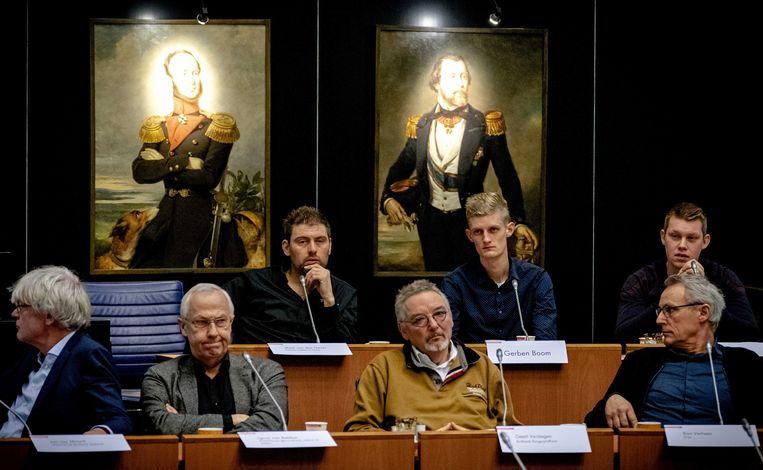 Mark van den Oever van FDF tijdens de inspraakronde in het provinciehuis in Den Bosch. Beeld ANP