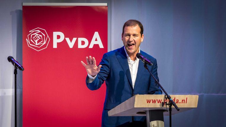 Lodewijk Asscher opende alvast de aanval op het aanstaande kabinet van VVD, CDA, D66 en ChristenUnie. Beeld ANP
