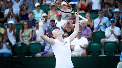 De stunt was geen uitschieter: Van Uytvanck krijgt nu ook Kontaveit klein en plaatst zich voor vierde ronde Wimbledon