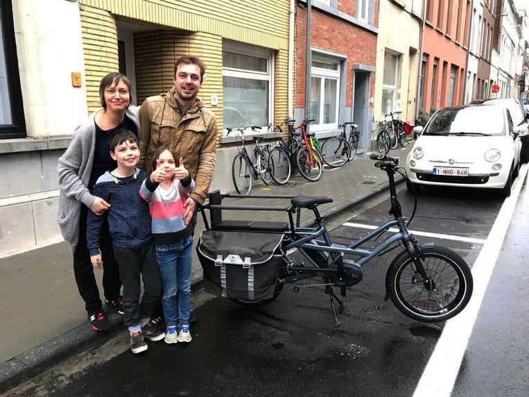 Het gezin van schepen Bieke Verlinden is de trotse eigenaar van een gezinsfiets.