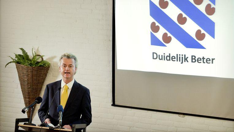 PVV-leider Geert Wilders. Beeld ANP