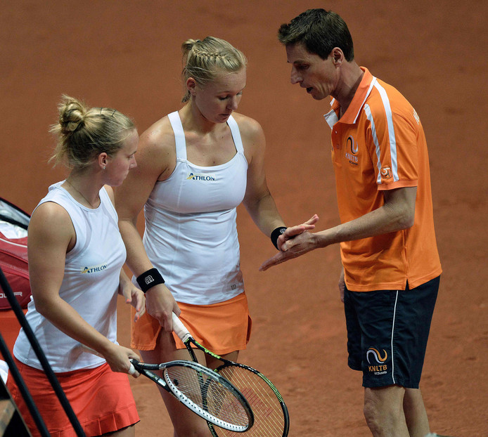 Richel Hogenkamp (links), Kiki Bertens  en Paul Haarhuis.