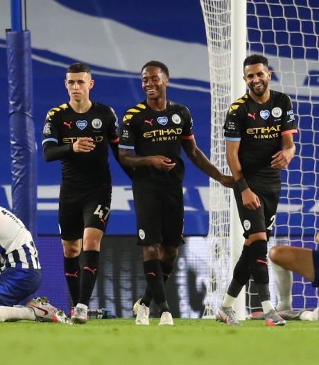 Manchester City schiet ook bij Brighton uit zijn slof