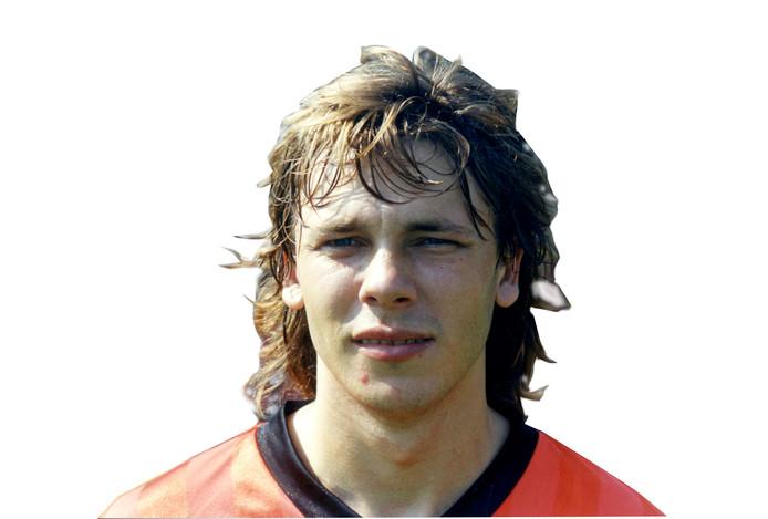 Frank Berghuis in zijn jonge jaren, destijds als linkerspits van FC Volendam.