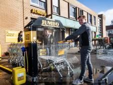 Mini wasstraat voor winkelwagens in Bathmen