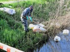 Drugsafval gedumpt in sloten in Goirle, Tilburg en Breda