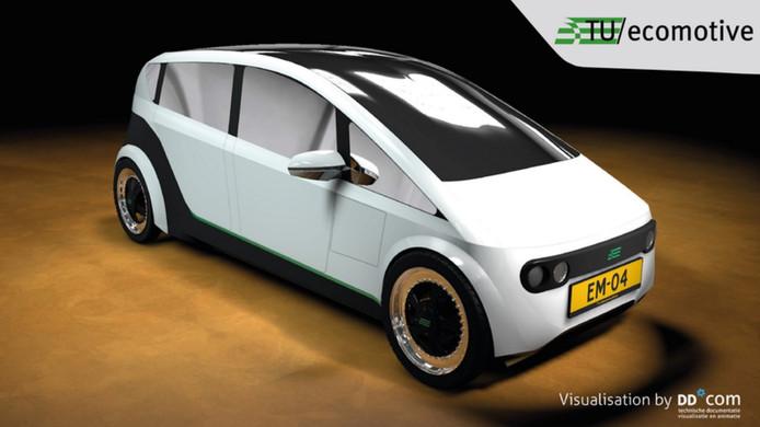 Het ontwerp van de biologisch afbreekbare auto.