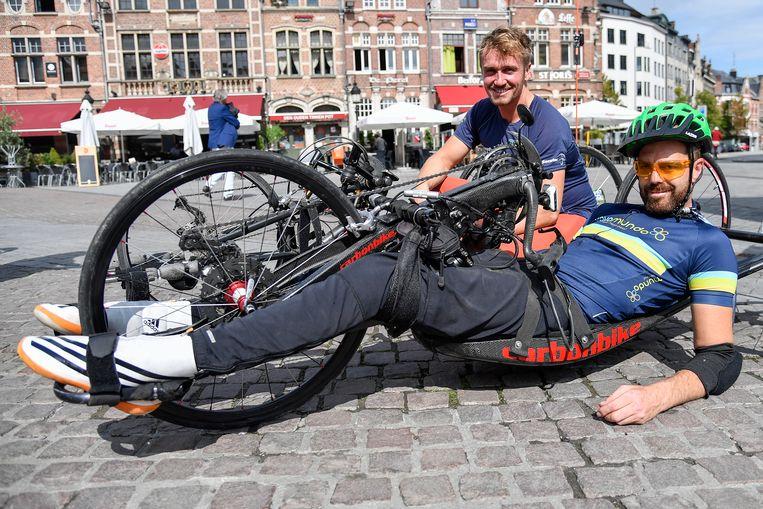 Het duo maakte een tussenstop op de Grote Markt in Dendermonde.